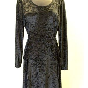Vintage Crushed Velvet Goth Witchy Woman Dress